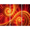 Sun Dance - Large Contemporary Canvas Art - 48x28 - 4 Panel