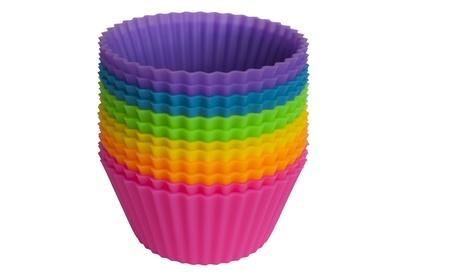 12 pcs Silicone Cake Muffin Chocolate Cupcake Liner Baking Cup Mold c9821da5-80e0-45e1-8f97-0560a5f50582