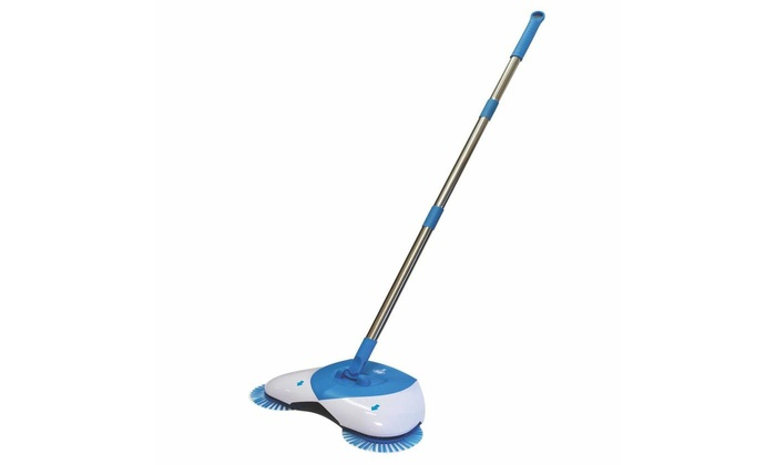 Spin Broom Hand Push Floor Sweeper No Electric Sweeping Machine