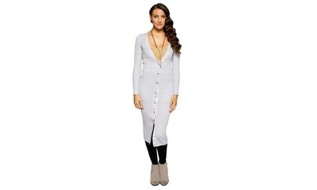 Xehar Women's Casual V-Neck Long Button Down Cardigan Sweater c1aac347-28d8-4b7f-87d8-e69b41d29a49