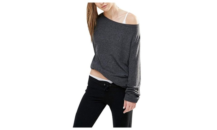 Women's Casual Fashion Pullover Long Sleeve Simple Sweatshirt