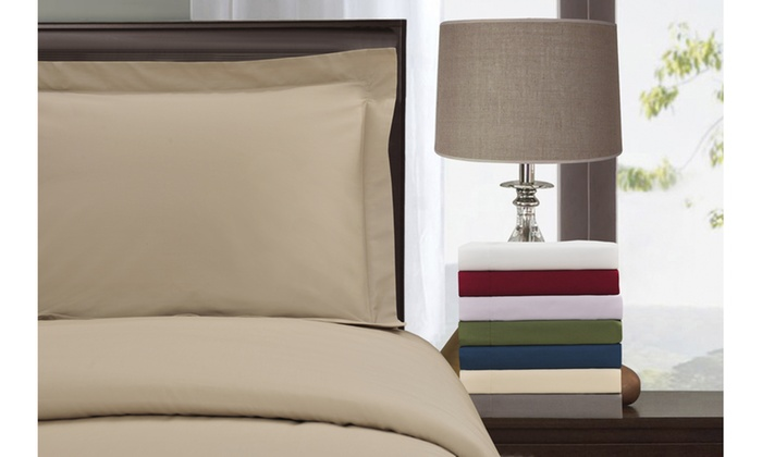Up To 58 Off On Cotton Solid Duvet Cover Set Groupon Goods