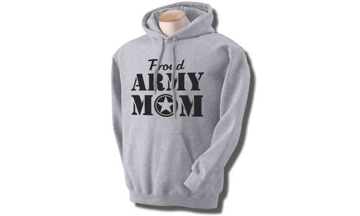 ... Proud Army Mom Hooded Sweatshirt in Sport Gray 2e9446d62
