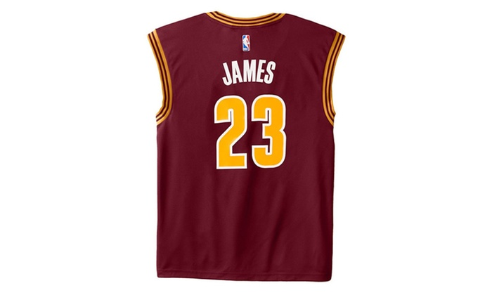 NBA Cleveland Cavaliers LeBron James #23 Men's Replica Jersey Red