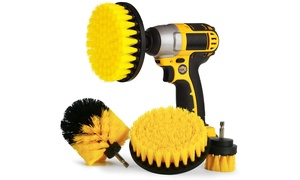 4 Piece Drill Brush Attachment Set
