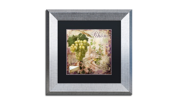 Groupon Goods: Color Bakery 'Wine Country VI' Matted Silver Framed Art