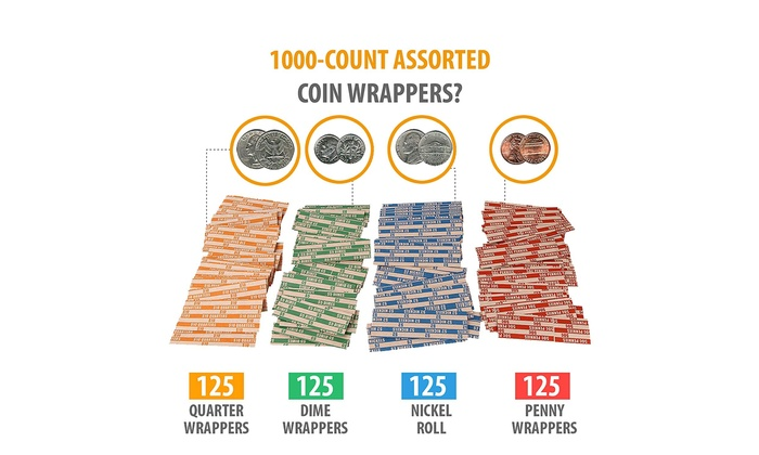 10 COIN WRAPPERS FOR NICKELS pack of 10 nickel coin wrapper