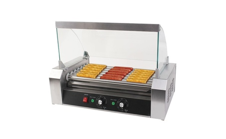 Costway Commercial 18/30 Hot Dog Hotdog 7/11 Roller Grill Cooker b89f895d-270a-4272-8d89-a37b8989b656