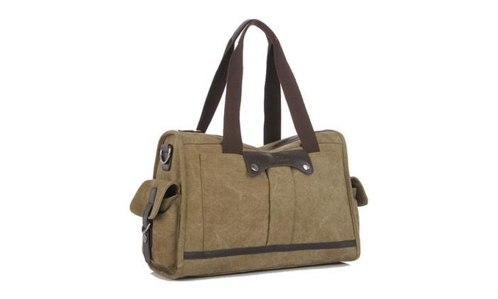 Shefetch Men's Canvas Travel Crossbody Bag