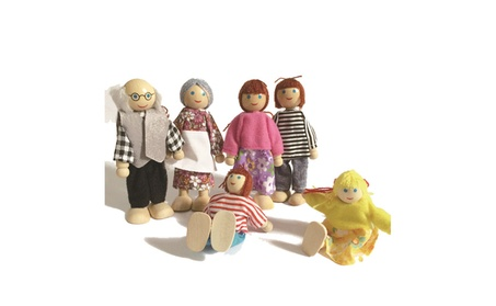 6pcs Wooden Family Member Puppet Toy Set Cartoon Changeable Doll Gift e5931f8c-9032-4d12-8160-972be29ca1a0