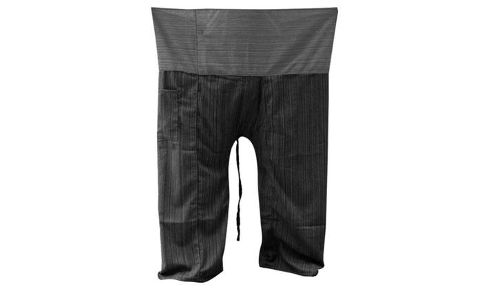f219f42d98b90 2 TONE Thai Fisherman Pants Yoga Trousers Plus Size Cotton