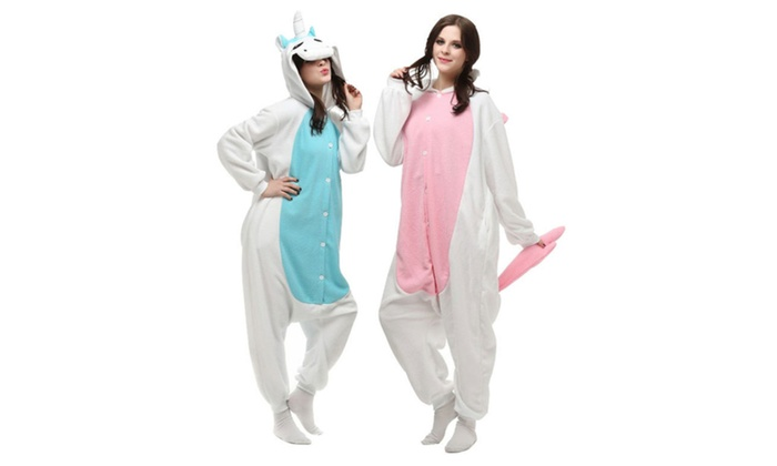 Adult Cartoon Animal Onesies Polar Fleece Unicorn Pajamas
