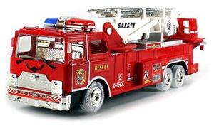 VT Fire Rescue Zero Team Battery Op Bump and Go Fire Truck w/ Flashing Lights