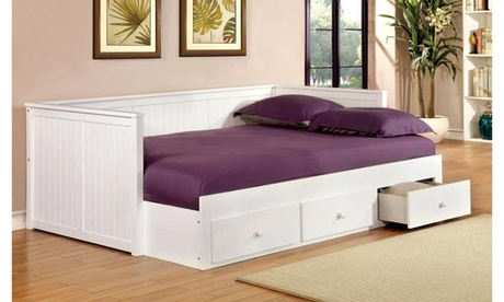 Furniture of America Lennie Daybed with Drawers bd6ee8d9-f9f6-4209-a78b-42e3927d16fb