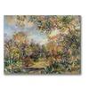 Pierre Renoir 'Landscape at Beaulieu' Canvas Art