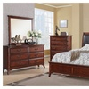 Ovruch 5 Pieces Bedroom Set in Brown
