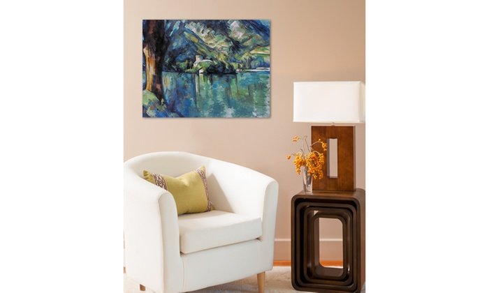 cezanne annecy lake 1896 by paul cezanne groupon. Black Bedroom Furniture Sets. Home Design Ideas