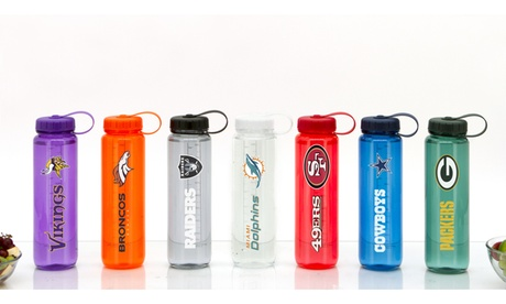 NFL 33 or 66 Oz. Clear Plastic Water Bottles photo