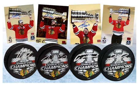Chicago Blackhawks Stanley Cup Signed Autographed Pucks and 8x10s 1c2d5237-c292-45e1-a3b1-95ca31c097db