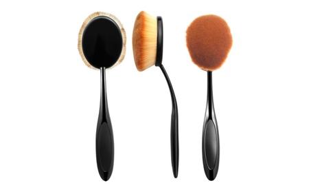 Zodaca Large Head Oval Cream Puff Cosmetic Toothbrush Shaped Power Mak 1a466ecc-9db5-4694-9ef3-520f4daedc10