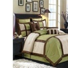Bed in a Bag 3030 R-T 8 Piece Morgan Luxury Comforter Set - Sage Ivory