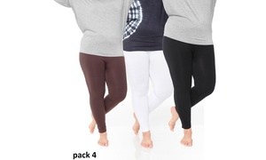 Black. White. Brown Pack of 3: Plus Size Legging