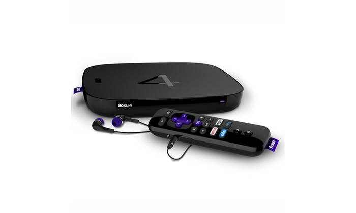 Roku 4 Streaming Media Player with 4K Ultra HD Support (Refurbished