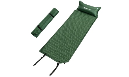 Self Inflating Sleeping Pad Comfortable Foam Camping Mat Air Mattress w/ Bag
