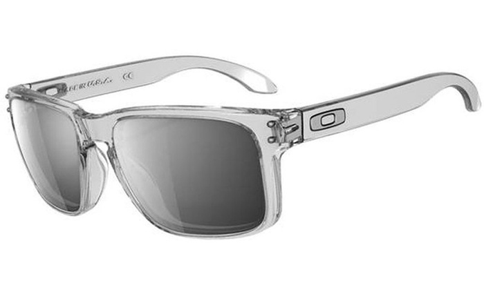 8d16a6da2a Clear Frame Holbrook Sunglasses with Chrome Iridium Lens