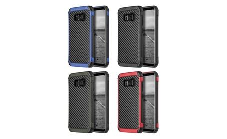 Samsung GalaxyS8+ Hybrid Touch Hard Bumper Case wt Carbon Fiber Finish a5112ab6-8406-4b6e-9722-e2adf7355820