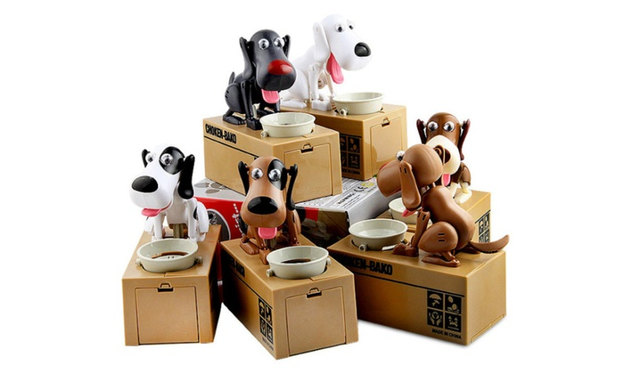 Electric Cute Puppy Dog Money Box Piggy Bank Cartoon Coin Saving Box