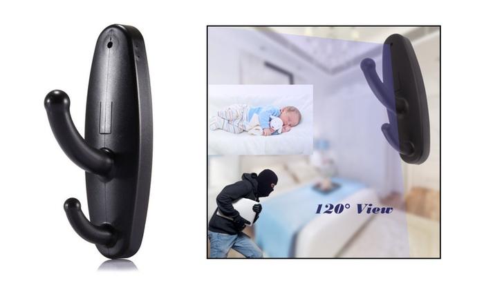Spy Camera Motion Detection Hidden Clothing Hook DVR Nanny Babysitting Video Cam