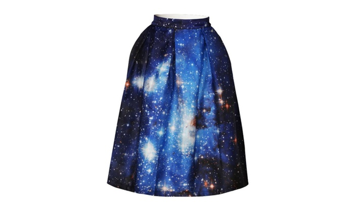 3D Star Personality Print Thin BSQ Digital Tie-dyed Skirt 009