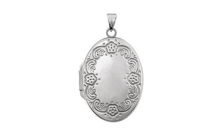 Sterling Silver Oval Locket 9706607a-d7e5-462b-907f-52049f5077e2