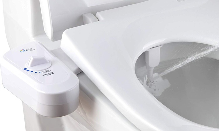 Bio Bidet Slimedge Simple Bidet Toilet Attachment In White With Dual Nozzle Groupon