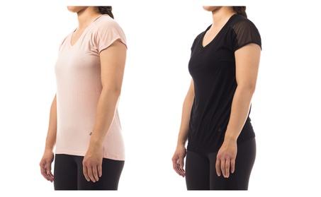 Women's Workout Running Shirts Fitness Gym Yoga Exercise Short Sleeve