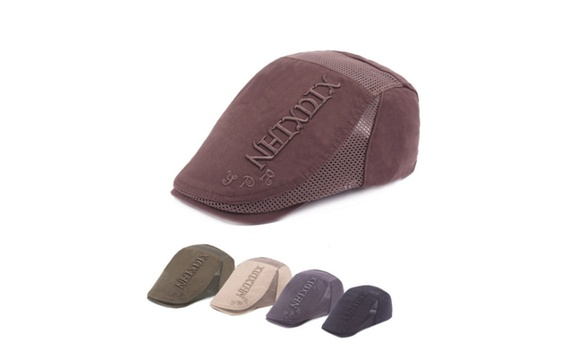 0cba43f1278 Fashion Embroidered Letter Breathable Mesh Men S Beret Hat