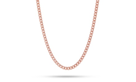 14K Rose Gold Plated Cuban Figaro Chain Necklace Was: $99.99 Now: $12.99.