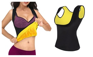 Slimming Body Shaper For Women Waist Trainer Cincher Sauna Yoga Vest   at Linger Party, plus 6.0% Cash Back from Ebates.
