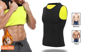 Men Sweat Body Shaper Vest Neoprene Slimming Sauna Tank Top Workout Shirts