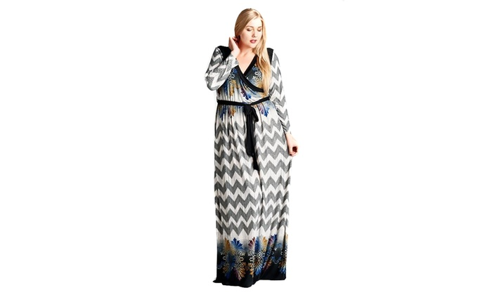 Up To 29% Off on Plus Size Chevron Abstract Mu... | Groupon Goods