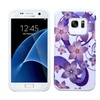 Insten Flower Hard Dual Silicone Case For Galaxy S7 Purple White