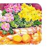 Carolines Treasures 24 x 36 in. Flower - Primroses Kitchen Or Bath Mat