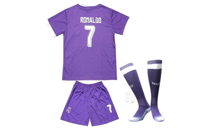 finest selection 0658f 574ea Real Madrid Purple Kid Youth Cristiano Ronaldo Jersey Purple ...