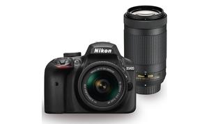 Nikon D3400 DSLR Camera with 18-55 AF-P VR plus 70-300 AF-P VR plus Kit