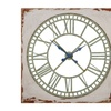 Green Stamped Wall Clock