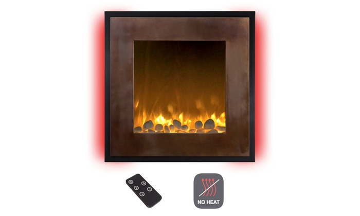 Electric Led No Heat Wall Fireplace With Timer And Remote Control