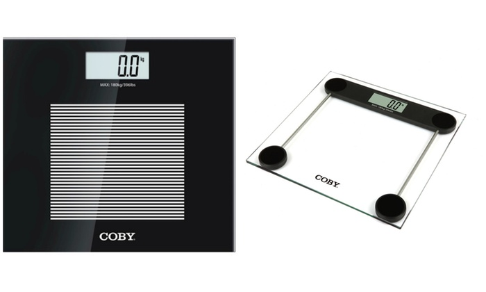 Coby Digital Glass Bathroom Scale Groupon