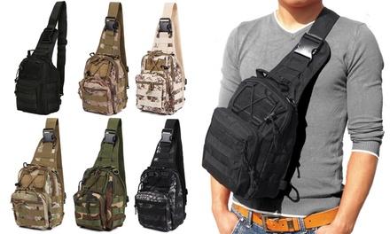 Men Backpack Molle Tactical Chest Bag Pack Sling Messenger Shoulder Bag
