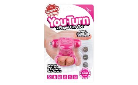 Screaming O You Turn 2 Finger Vibe Silicone Ring Waterproof - strawberry / merlot 9dc76781-bb92-4e0e-b6f5-4cf0f86e1d2a